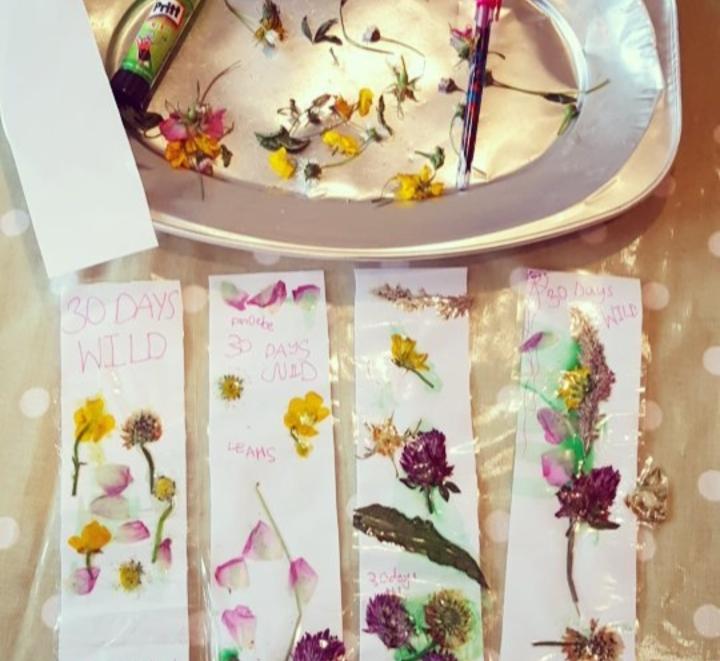 """""""Flower bookmark"""" - """"nature"""" - """"30 days wild ideas"""""""
