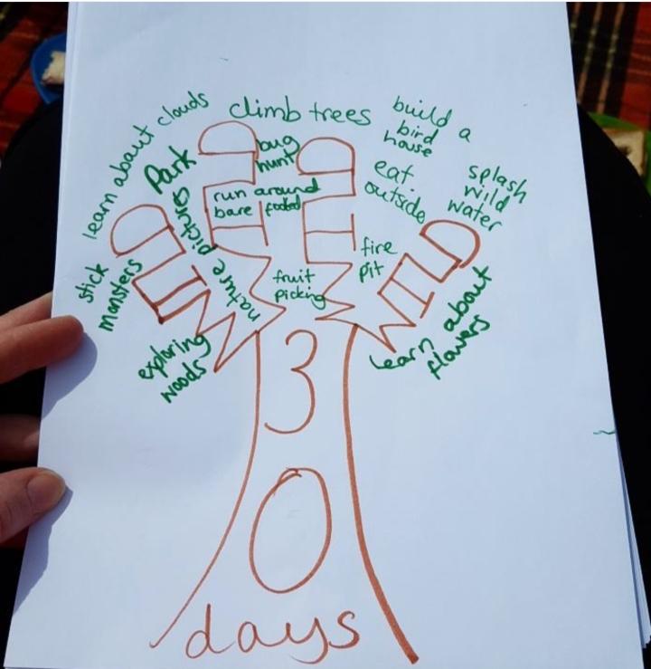 """30 days wild ideas"" - ""tree"""