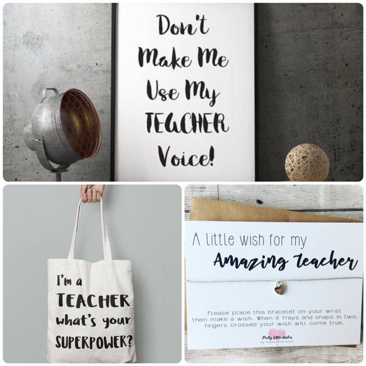 Teacher gifts - teacher presents - signs - bracelets