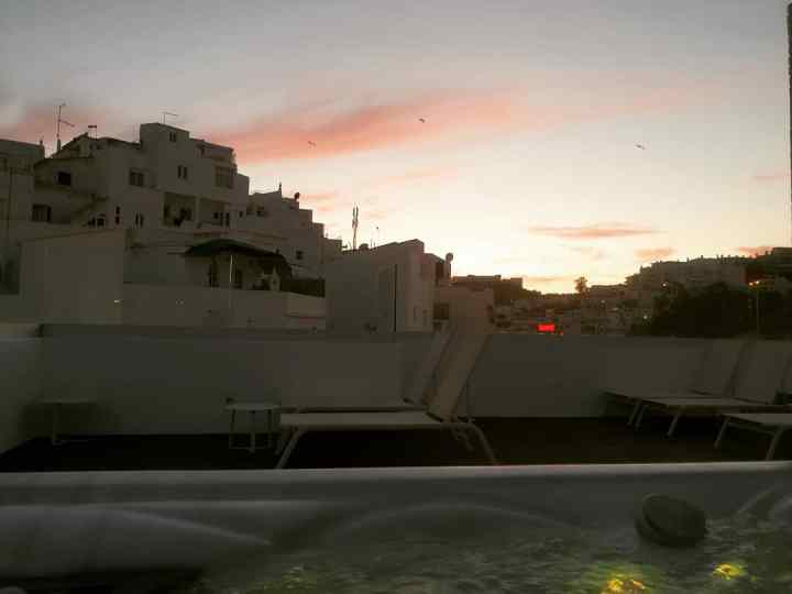 Sunset, Baltum Hotel, albufeira, Portugal, roof top Jacuzzi