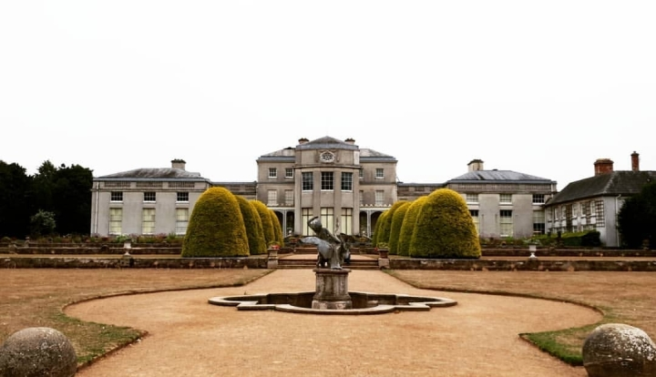 Shugborough Estate. National Trust. A big mansion. Old English building. 4 freckled faces.