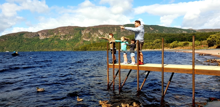 Loch Ness. Scotland. 4 Freckled Faces. Finding the Loch Ness Monster.