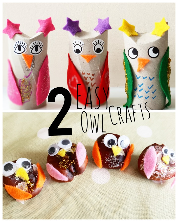 2 Easy Owl Crafts for kids