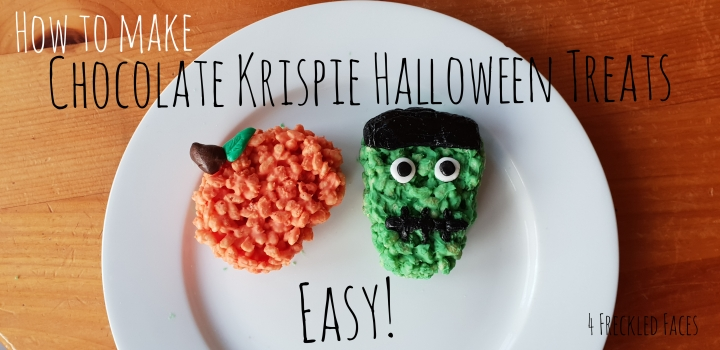 Easy Chocolate Krispie Halloween Treats