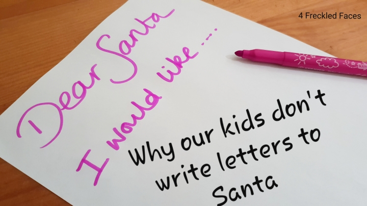 Why we decided to not encourage our kids to write letters to Santa