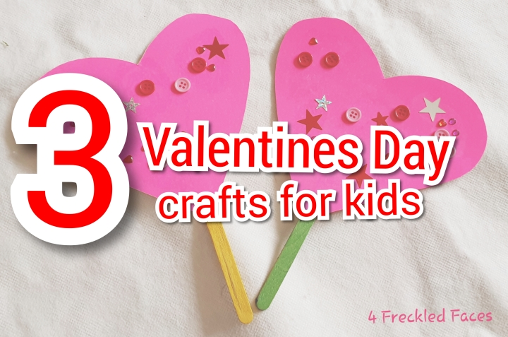 3 Valentine's crafts for kids