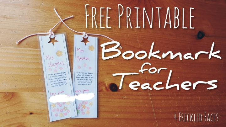 Free Printable Bookmarks for Teachers Gifts