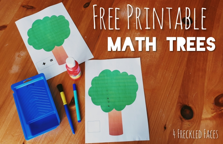 Math Trees – FREE Printable!